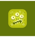 Annoyed Green Monster Emoji Icon vector image vector image