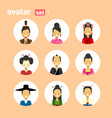asian man and woman avatar set icon female male in vector image vector image