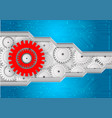 background with gears and circuit abstract vector image