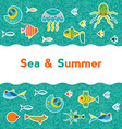 background with sea creatures vector image vector image