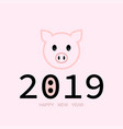 banner 2019 happy new year year pig vector image