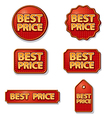 best price labels vector image vector image