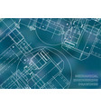 blueprints mechanics cover mechanical engineering vector image