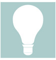 bulb the white color icon vector image vector image