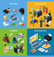 business isometric design concept vector image vector image
