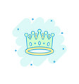 cartoon crown diadem icon in comic style royalty vector image