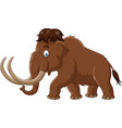 cartoon mammoth isolated on white background vector image vector image
