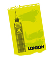 Clock Tower of London vector image vector image