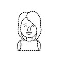 dotted shape beauty woman with hairstyle design vector image vector image