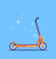 electric push scooter icon flat style vector image vector image