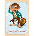 English idiom monkey business vector image vector image
