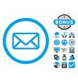 Envelope Flat Icon with Bonus vector image