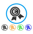 european guarantee seal rounded icon vector image vector image