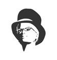 extravagant woman portrait vector image vector image