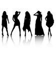 fashion silhouettes vector image vector image