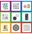 flat icon play set of chequer arrow lottery and vector image vector image