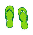 flip flop sign lemon scribble icon on vector image