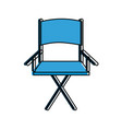 folding chair icon image vector image vector image