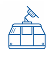 Funicular or Cable Car Icon vector image