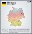Germany map in geometric polygonal style Polygonal vector image vector image