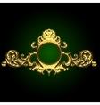golden decor vector image vector image