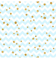 Golden polka dot seamless pattern Gold confetti vector image
