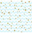 Golden polka dot seamless pattern Gold confetti vector image vector image