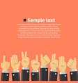 group hands in top vector image vector image