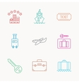 Hotel cruise ship and airplane icons vector image vector image
