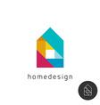 House design concept colorful rainbow geometric vector image vector image