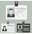 id card set vector image vector image