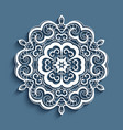 lace doily cutout paper round pattern vector image