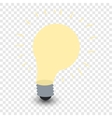 Light bulb cartoon symbol vector image