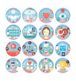 medical flat circle icons set kinds of medica vector image