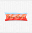 merry christmas festive banner isolated on vector image vector image