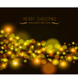 Merry christmas new year bokeh light greeting card vector image vector image