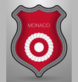 national symbols of monaco cockade with country vector image
