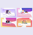 online education course landing page set vector image