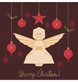 Origami Angel Background vector image vector image