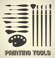 Painting Tools Collection vector image vector image