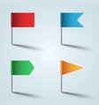 pin - flag color icon on grey vector image