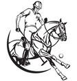 polo emblem vector image vector image