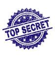 scratched textured top secret stamp seal vector image