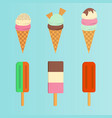 Set of ice cream flat icon
