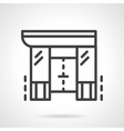 Shopping center black line design icon vector image vector image