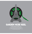 Side View Of Garden Hose Reel vector image vector image