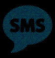 sms collage icon of halftone spheres vector image vector image