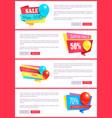 special discount weekend sale best balloons label vector image vector image