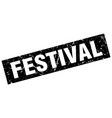 square grunge black festival stamp vector image vector image