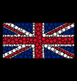 uk flag pattern of filled pentagon icons vector image vector image
